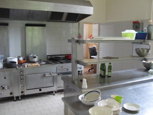 Chateau des Lys kitchen