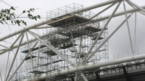 Stadium in scaffolding